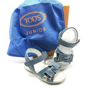 TOD'S JUNIOR Italian Leather Bow Sandals
